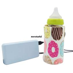 USB Portable Travel Baby Feeding Bottle Mlik Warmer Bag Heat