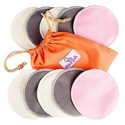 Washable Nursing Pads 10 Pack  + Laundry & Travel Bag + Free