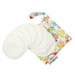 Washable Organic Nursing Pads  | Contoured Reusable Breast/B