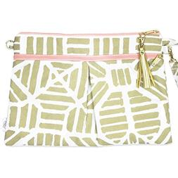 Waterproof Wristlet Clutch - Diaper Clutch with Front Dry Po
