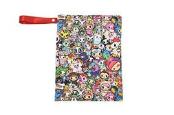 Itzy Ritzy Large Zippered Wet Bag in TokiDoki Allstars
